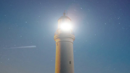 Lighthouse stands alone