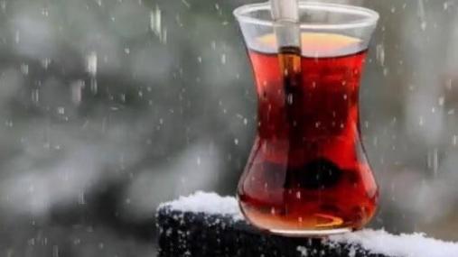 Hot tea in rain
