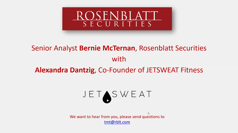 Fitness Industry Update with JETSWEAT, hosted by Bernie McTernan