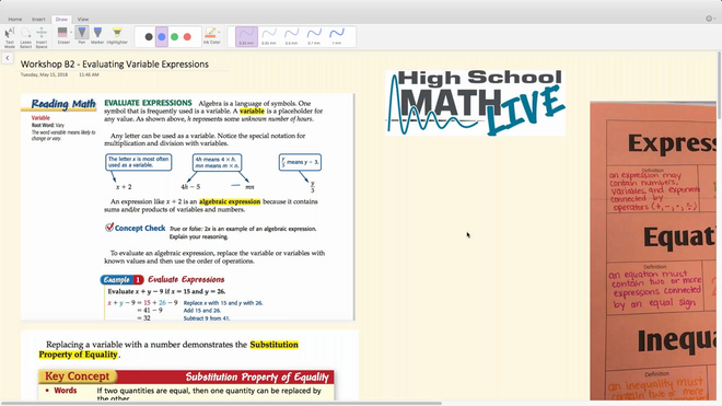 Brush Up Math Workshop B2 - Evaluating Variable Expressions.mp4