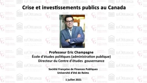 Crise et investissements publics au Canada