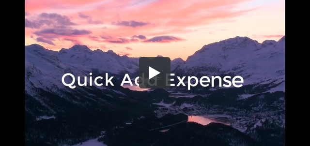 Quick Add Expenses