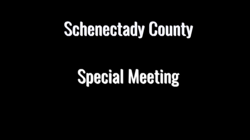 Schenectady Co Legislature Special Meeting 15 Mar 2020
