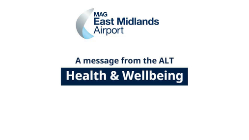 A message from the ALT - Health and Wellbeing