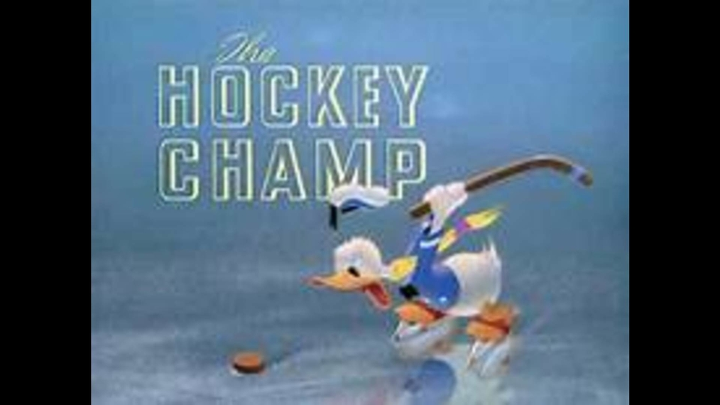 Donald Duck THE HOCKEY CHAMP