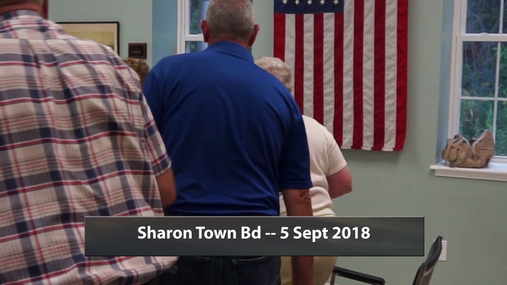 Sharon Town Bd -- 5 Sept 2018