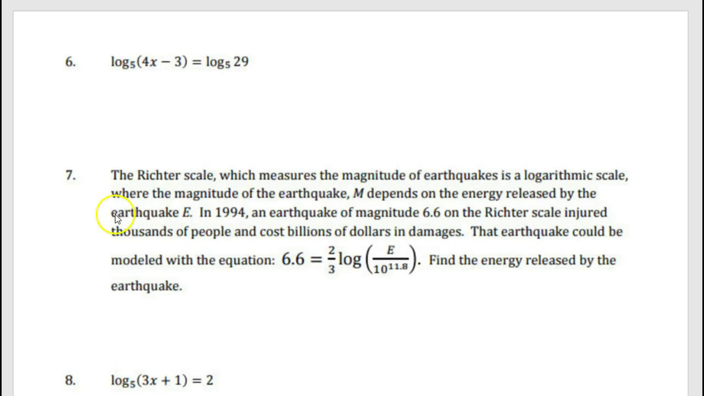 Precalculus Log Review Guided Notes Part 2.mp4