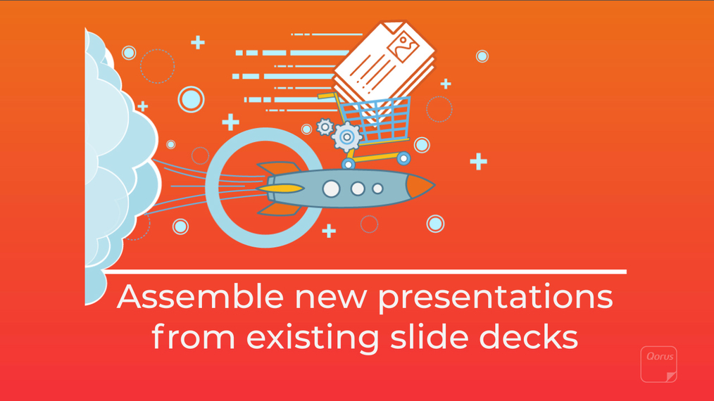 Assemble new presentations from existing slide decks