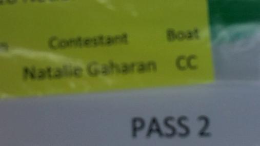 Natalie Gaharan W1 Round 1 Pass 2
