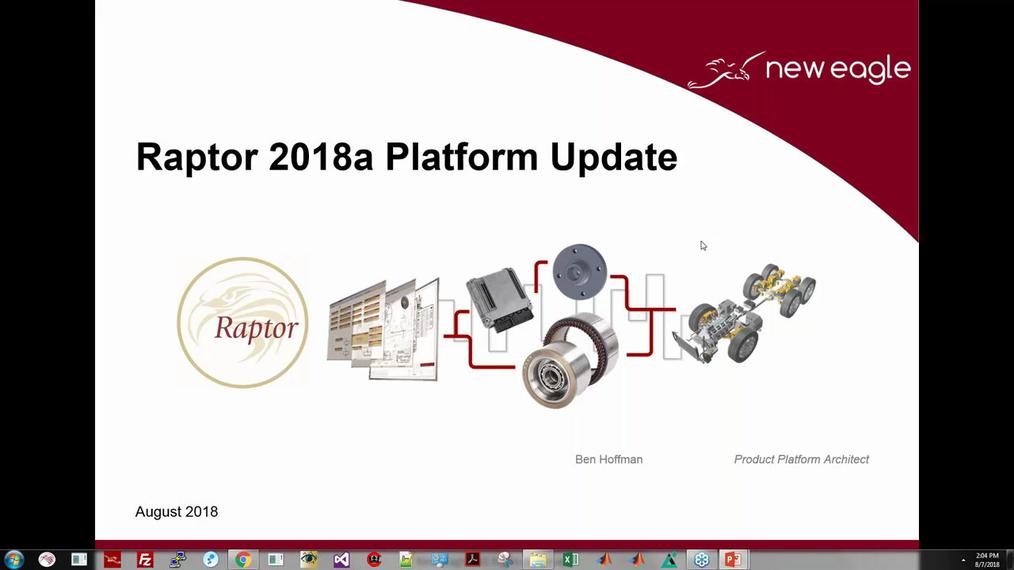 2018A Raptor Release Webinar (8/7/2018)