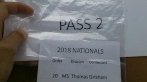 Thomas Grisham M5 Round 1 Pass 2