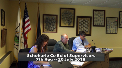 Schoharie Co Bd of Superviisors 7th -- 20 July 2018