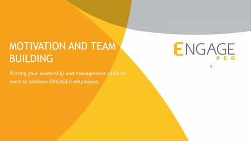 April 2017 HR Webinar: Motivation and Team Building