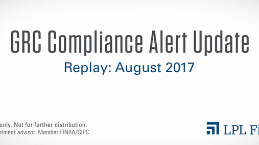 GRC Compliance Replay: August 2017