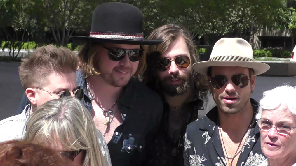 A Thousand Horses outside ACM Awards Radio Row at T-Mobile Arena in Las Vegas.mp4