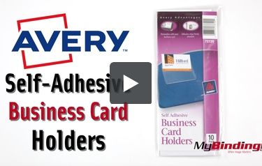 Avery Self Adhesive Business Card Holders 10pk 73720