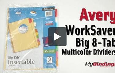 avery 8 tab buff paper worksaver big tab multicolor dividers
