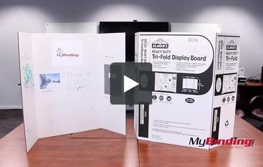 """36/""""x48/"""" White EPI730205 Project Board Display Tri-Fold Board"""