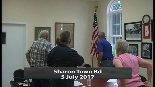 Sharon Town Bd -- 5 July 2017