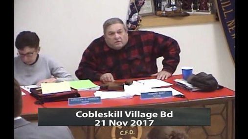 Cobleskill Village Bd -- 21 Nov 2017