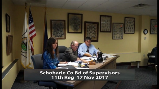 Schoharie Co Bd of Supervisors 11th  Reg -- 17 Nov 20174