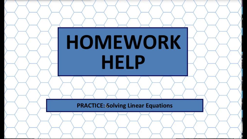 Q1 HH Solving Linear Equations.mp4