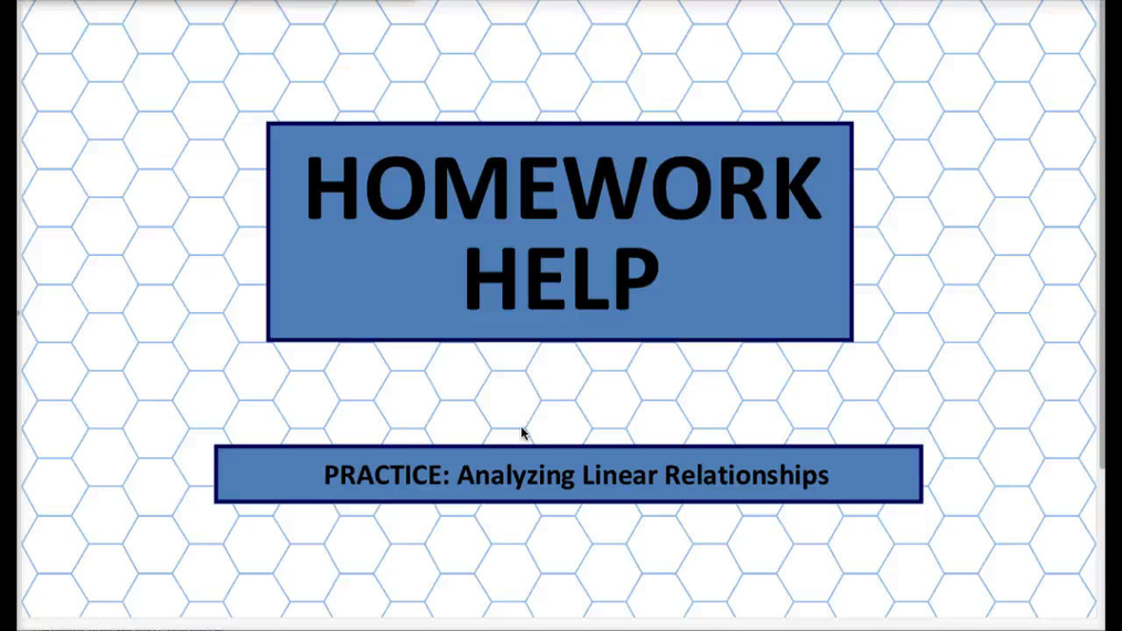 Q1 HH Analyzing Linear Relationships.mp4