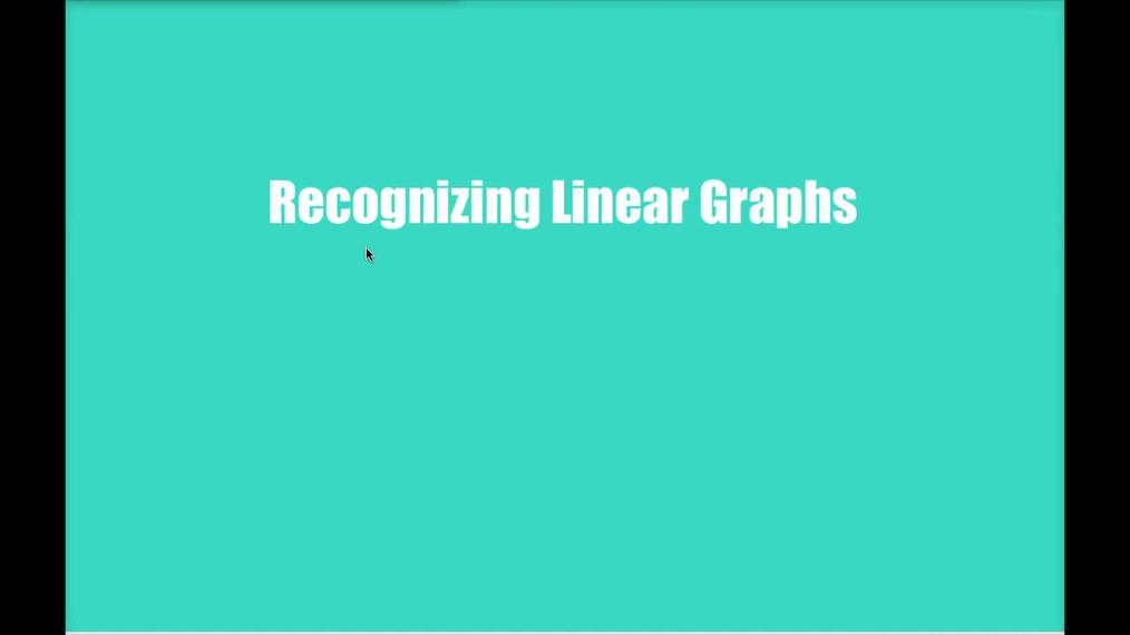 Math 8 Q2 - Unit 4 Recognizing Linear Graphs.mp4