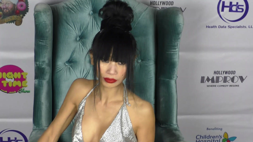 Bai Ling at The Night Time Show Holiday Special Benefiting Children's Hospital at Improv Comedy Club in West Hollywood.mp4
