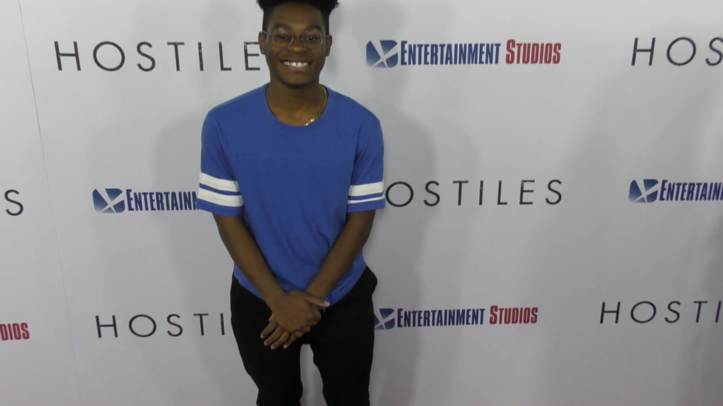 Kamil McFadden at the Hostiles Premiere at Samuel Goldwyn Theater in Beverly Hills.mp4