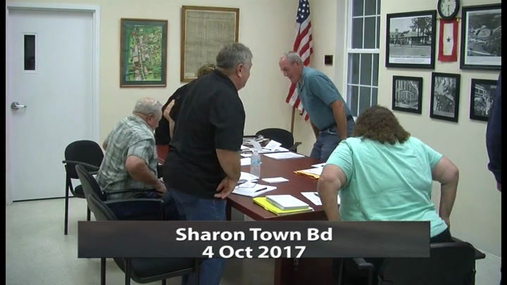 Sharon Town Bd -- 4 Oct 2017