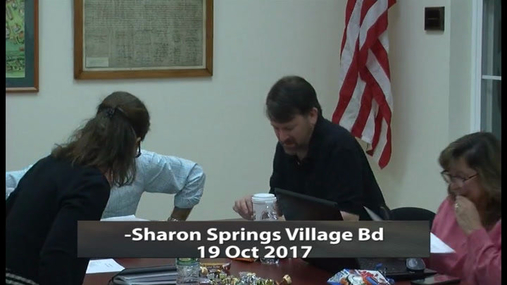 Sharon Springs Village Bd -- 19 Oct 2017
