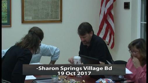 Sharon Springs Village Bd -- 19 Oct 2017