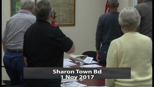 Sharon Town Bd -- 1 Nov 2017