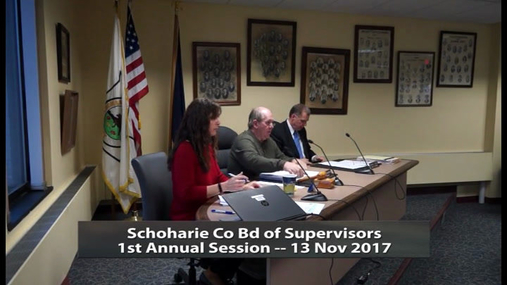 Schoharie Co Bd of Supervisors -- 1st Annual -- 13 Nov 2017