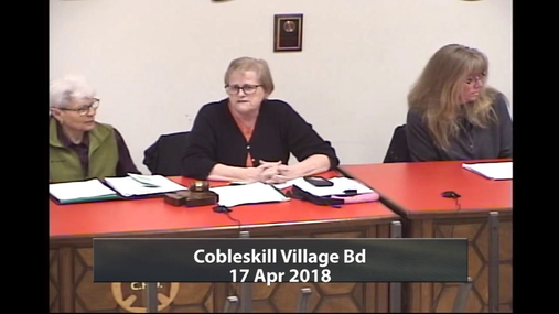Cobleskill Village Bd -- 17 Apr 2018