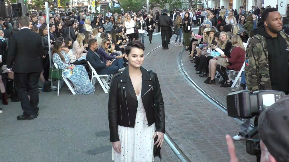 Brianna Hildebrand at the Rebecca Minkkoff's See Now, Buy Now Fashion Show at The Grove in Hollywood.mp4
