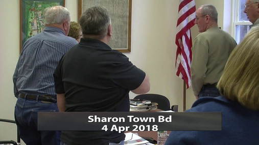 Sharon Town Bd -- 4 Apr 2018