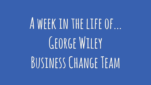 A week in the life of... George Wiley