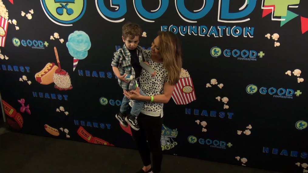 Ginger Zee and Ben Aaron at the GOOD Foundation Central Park Bash in New York.mp4
