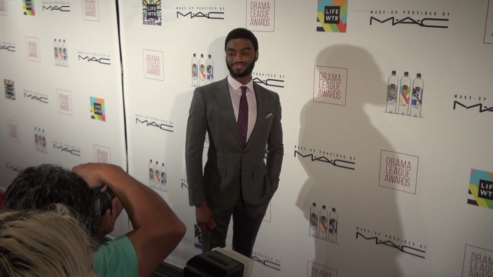 Jelani Alladin attends the 2018 Drama League Awards at Marriott Marquis Times Square in New York City.mp4