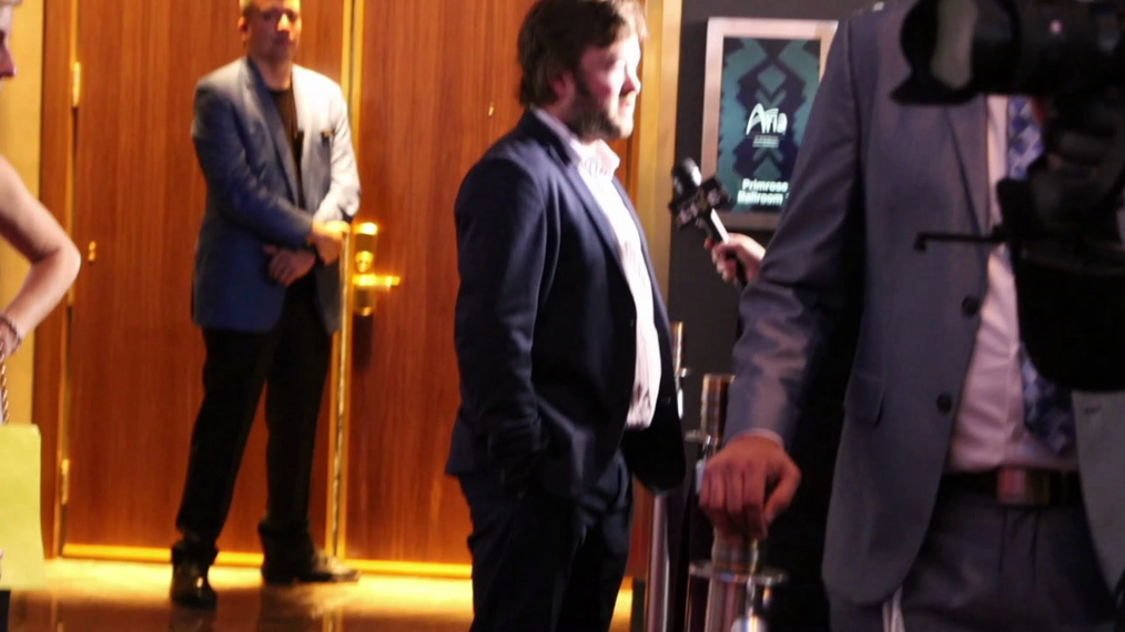 Haley Joel Osment attends the 2018 Derek Jeter Celebrity Invitational Gala at the Aria Resort & Casino in Las Vegas.mp4