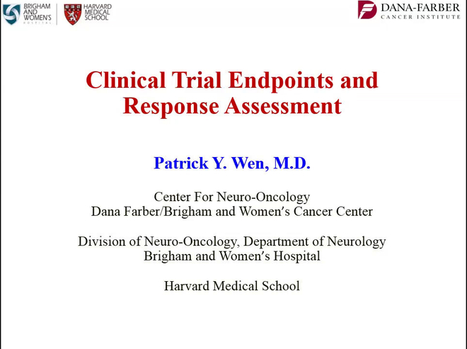 Clinical Trial Endpoints and Response Assessment