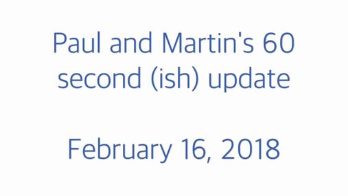 STP 60 second update 16.02.18
