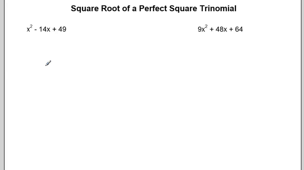 Square Root of a Perfect Square Trinomial.mp4