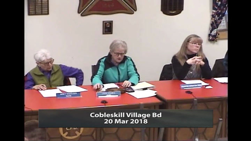 Cobleskill Village Bd -- 20 Mar 2018