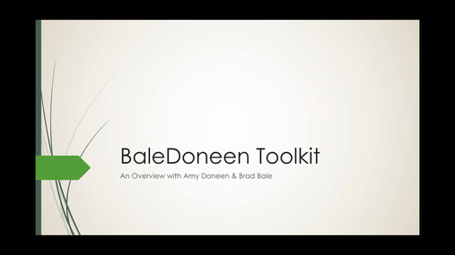 BaleDoneen Toolkit - Live Q&A GoToWebinar, recorded 10-25-16