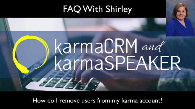 How do I remove users from my karma account?