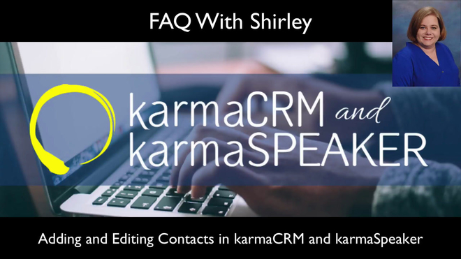 Adding and Editing Contacts in karmaCRM and karmaSpeaker
