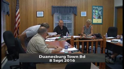 Duanesburg Town Bd -- 8 Sept 2016